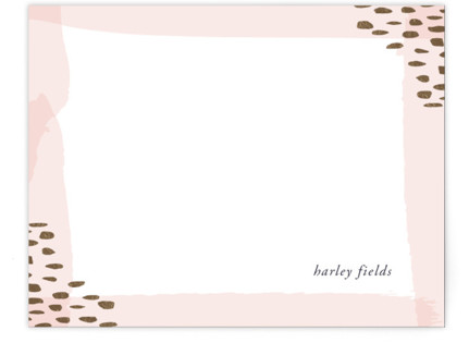 Luscious Icing Foil-Pressed Personalized Stationery