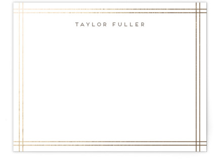 A Golden Age Foil-Pressed Personalized Stationery