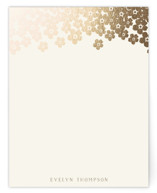 Forget-Me-Not Foil-Pressed Stationery