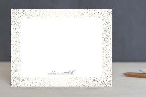 Speckled Frame Foil-Pressed Stationery