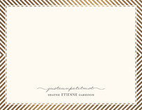 Paris From Stripes To Chevrons Foil-Pressed Personalized Stationery