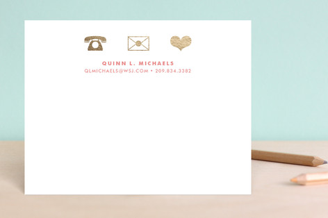 Icons Foil-Pressed Stationery
