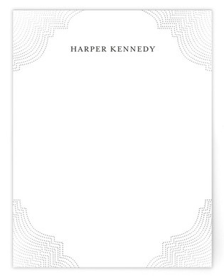 Splendorous Foil-Pressed Personalized Stationery