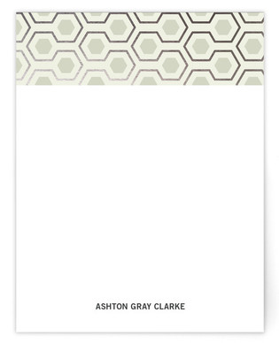 Mod Hex Foil-Pressed Personalized Stationery