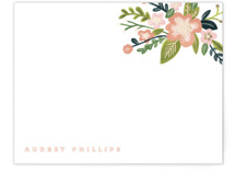Audrey Foil-Stamped Stationery