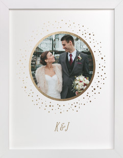 Forever and Always Foil Pressed Photo Art Print