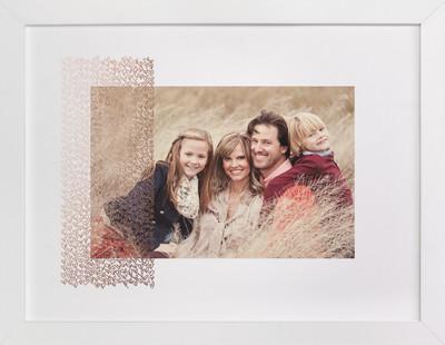 Heart Stripe Foil Pressed Photo Art Print