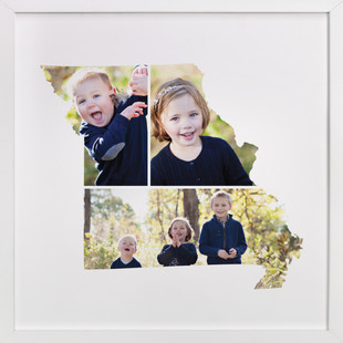 Missouri Love Location Custom Photo Art Print