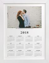 Wedding Photo Calendar (One Photo)