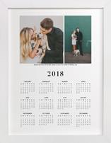 Wedding Photo Calendar (Two Photo)