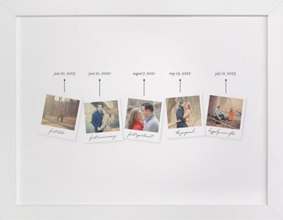 Timeline Custom Photo Art Print
