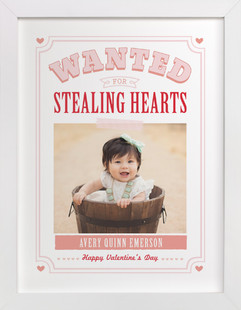 Wanted For Stealing Hearts Custom Photo Art Print