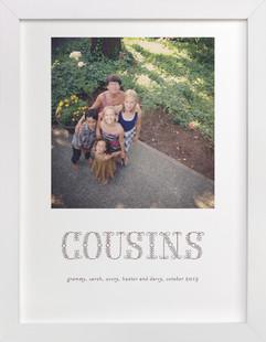 Floral Cousins Custom Photo Art Print