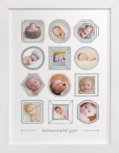 Framed Months Custom Photo Art Print