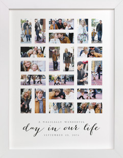 A Day in Our Life Custom Photo Art Print