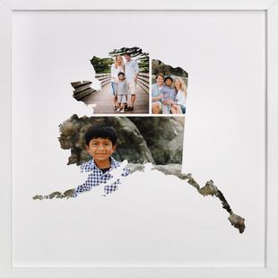 Alaska Love Location Custom Photo Art Print