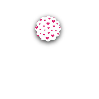 Hearts Aflutter Small Stickers