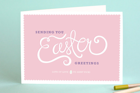 Script + Scallops Easter Greeting Cards