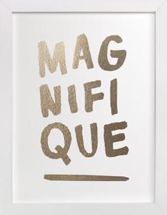 Magnifique Foil-Pressed Art Print