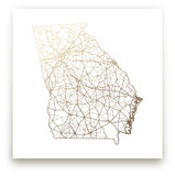 Georgia Map by GeekInk Design