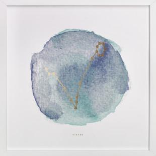 Pisces Foil-Pressed Art Print