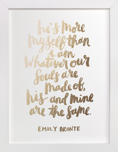 His and Mine Foil-Pressed Art Print