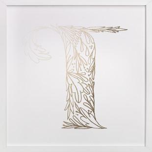 Botanical T Foil-Pressed Art Print