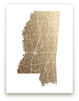 Mississippi Map by GeekInk Design