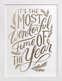 Most Wonderful Time Foil-Pressed Art Print
