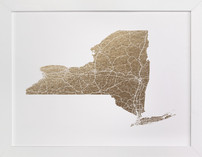 New York Map Filled