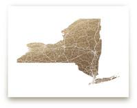 New York Map Filled by GeekInk Design