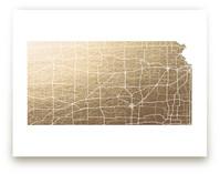Kansas Map by GeekInk Design