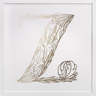 Botanical Z Foil-Pressed Art Print