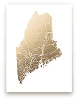 Maine Map by GeekInk Design