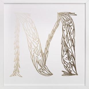 Botanical M Foil-Pressed Art Print