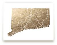 Connecticut Map by GeekInk Design