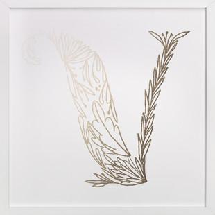 Botanical V Foil-Pressed Art Print