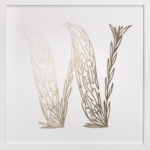 Botanical W Foil-Pressed Art Print