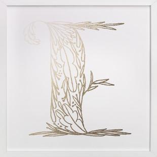 Botanical E Foil-Pressed Art Print