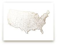 United States Map by GeekInk Design