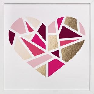 Mosaic Heart Foil-Pressed Art Print
