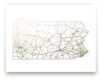 Pennsylvania Map by GeekInk Design