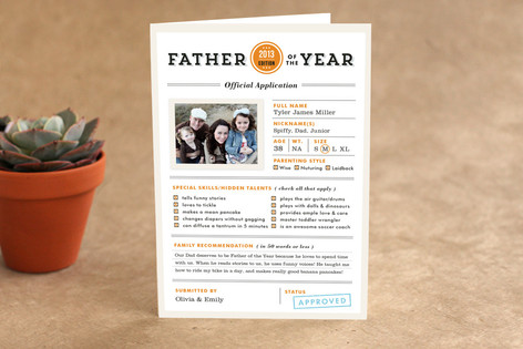 Father of the Year Father's Day Greeting Cards