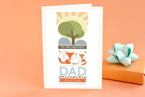 Woodland Fox Father's Day Greeting Cards