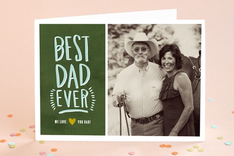 Painted Best Dad Father's Day Greeting Cards