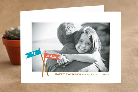 Crossed Flags Father's Day Greeting Cards