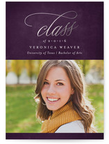 Classy Year Foil-Pressed Graduation Announcements