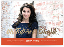 The Future Is Bright Foil-Pressed Graduation Announcements