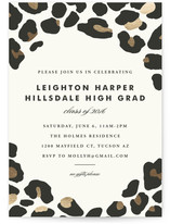 On The Wild Side Foil-Pressed Graduation Announcements