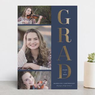 Classic stack Foil-Pressed Graduation Announcements